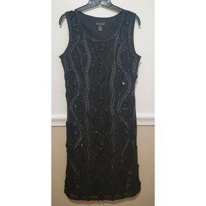 Frank Lyman Black Sleeveless Lined Dress with Gath